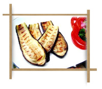 Frozen Grilled Long Cut Eggplant