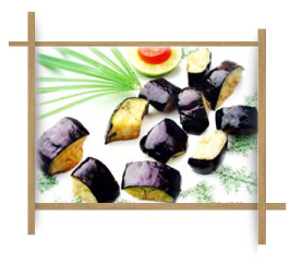 Frozen Fried Fan Cut Eggplant