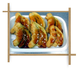 Frozen Tempura Curve Cut PamPkin With Chicken Meat