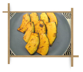Frozen Grilled Curved Cut Pumpkin M Size