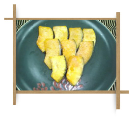 Frozen Fried Curved Cut Pumpkin M Size.